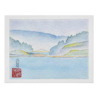 Langdale To Horseshoe Bay Watercolor Print