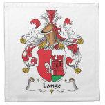 Lange Family Crest Printed Napkins