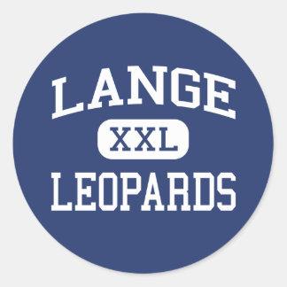 Lange Leopards Middle Columbia Missouri Round Sticker