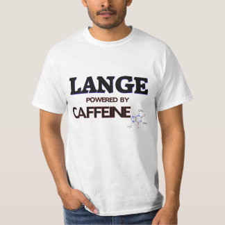 Lange powered by caffeine tshirts