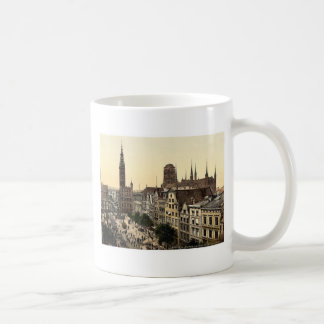 Langen Market and Court House, Danzig, West Prussi Coffee Mugs