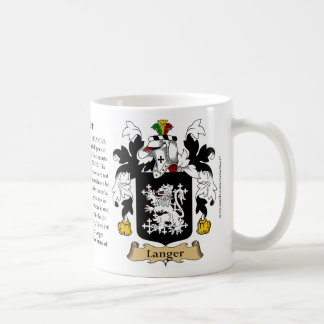 Langer, the Origin, the Meaning and the Crest Coffee Mug