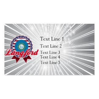 Langford, SD Double-Sided Standard Business Cards (Pack Of 100)