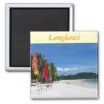 Langkawi Beaches 2 Inch Square Magnet