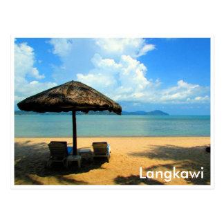 langkawi relaxation postcard