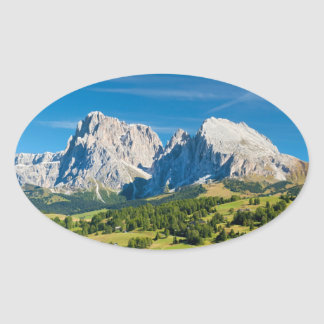 Langkofel Group in South Tyrol, Italy Oval Sticker