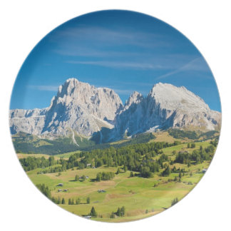 Langkofel Group in South Tyrol, Italy Party Plates