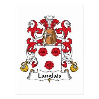 Langlais Family Crest Postcard