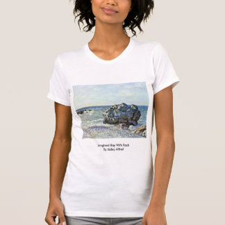 Langland Bay With Rock By Sisley Alfred Tee Shirts