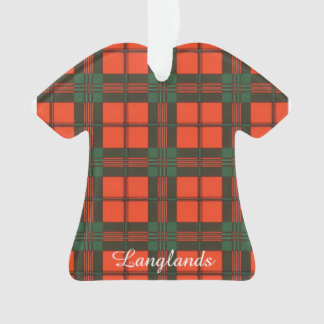 Langlands clan Plaid Scottish kilt tartan