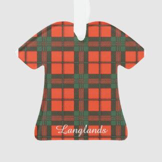 Langlands clan Plaid Scottish kilt tartan Ornament