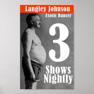 Langley Johnson, bailarina exótica Impresiones