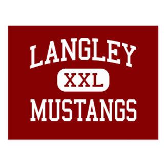 Langley - Mustangs - High - Pittsburgh Postcard
