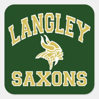 Langley Saxons Square Sticker