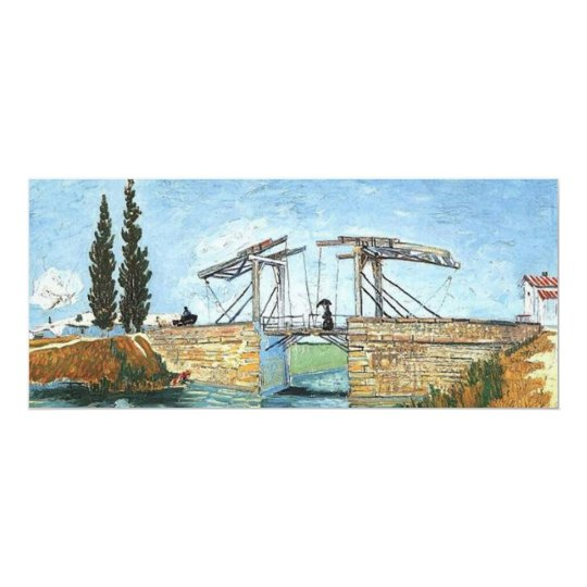 Langlois Bridge at Arles by Vincent van Gogh Card