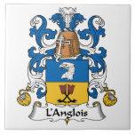 L'Anglois Family Crest Ceramic Tiles