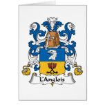 L'Anglois Family Crest Greeting Card