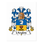 L'Anglois Family Crest Postcard