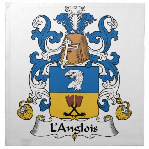 L'Anglois Family Crest Printed Napkins