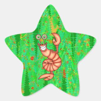 Langosta aerobia divertida pegatinas forma de estrellaes