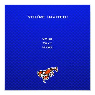 """Langosta; Azul Invitación 5.25"""" X 5.25"""""""