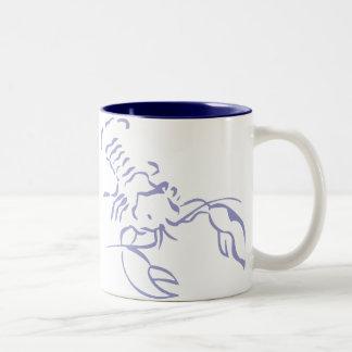 Langosta azul taza de dos tonos