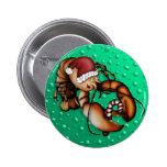 Langosta Claus, botón Pin