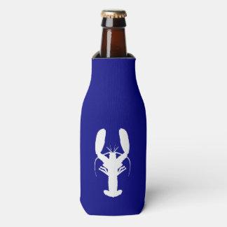 Langosta costera de la decoración de los azules enfriador de botellas