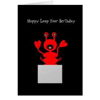 Langosta de la tarjeta de cumpleaños del año
