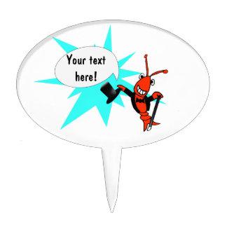 Langosta de los cangrejos en Tux Figura De Tarta