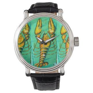 langosta de Maine en el reloj verde
