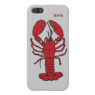Langosta de Maine en las iniciales opcionales iPhone 5 Funda