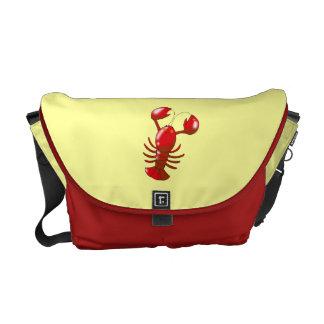 langosta del rojo del dibujo animado bolsas messenger