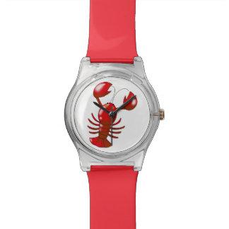langosta del rojo del dibujo animado relojes