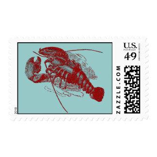 Langosta del vintage sello