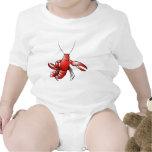 Langosta divertida de los cangrejos camisetas