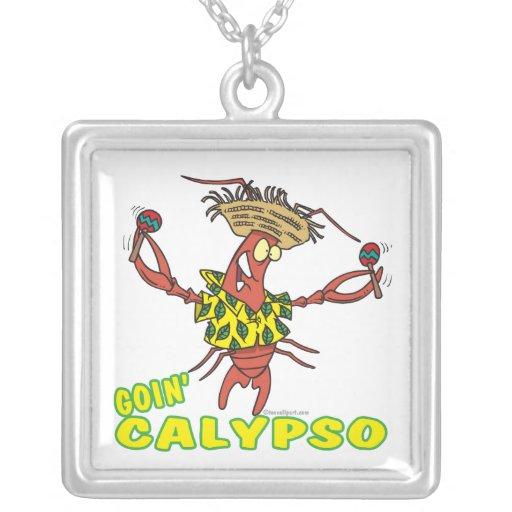 langosta divertida del calypso del goin con maraca joyerías