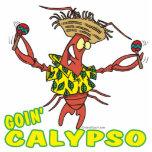 langosta divertida del calypso del goin con maraca esculturas fotográficas
