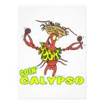 langosta divertida del calypso del goin con maraca comunicados personales