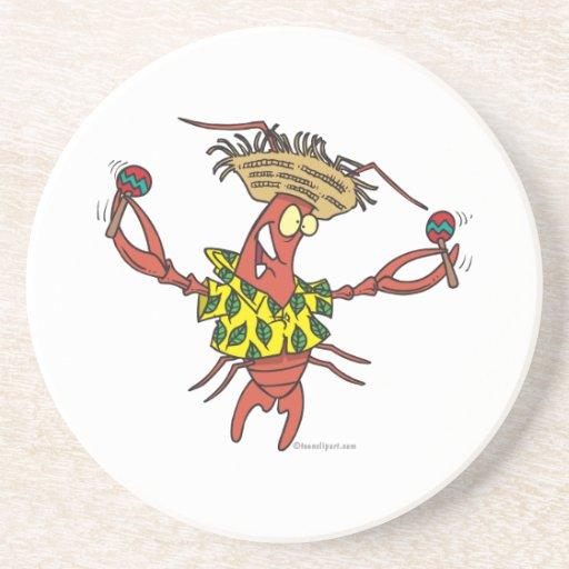 langosta divertida del calypso posavasos personalizados