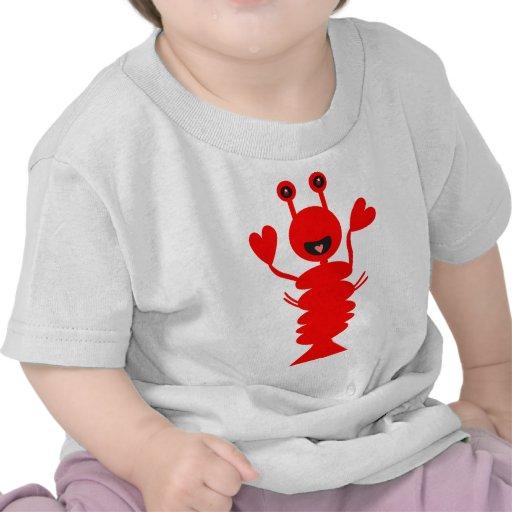 Langosta feliz camiseta