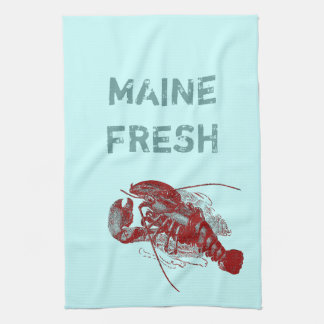 Langosta fresca de Maine del vintage Toallas De Mano