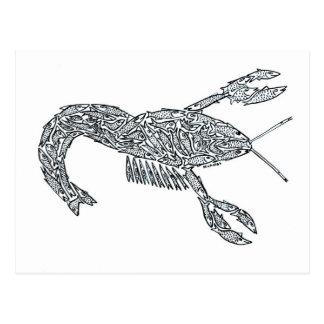 LANGOSTA hecha de pescados Postales