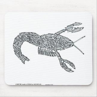 LANGOSTA hecha de pescados Tapete De Ratones