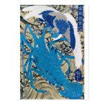 Langosta japonesa y pájaro que pintan C. 1800's Postales
