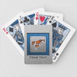 Langosta; Metal-mirada cepillada Baraja Cartas De Poker