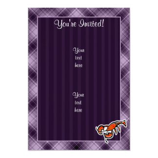 """Langosta púrpura invitación 5"""" x 7"""""""