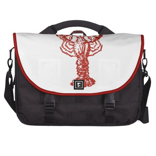 Langosta roja estilizada bolsa para ordenador