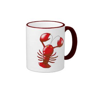 Langosta roja linda tazas