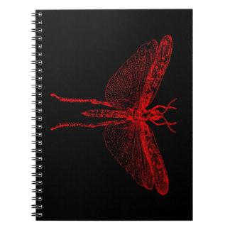 Langosta roja libros de apuntes con espiral